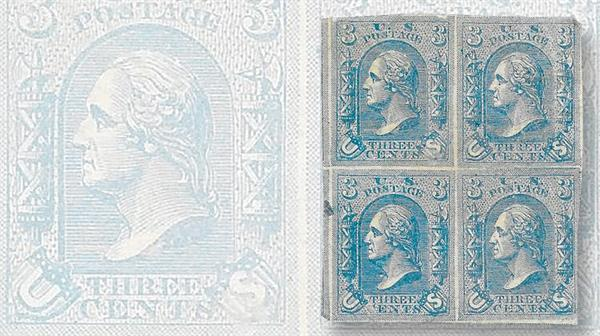 lowenberg-1867-three-cent-essay-block