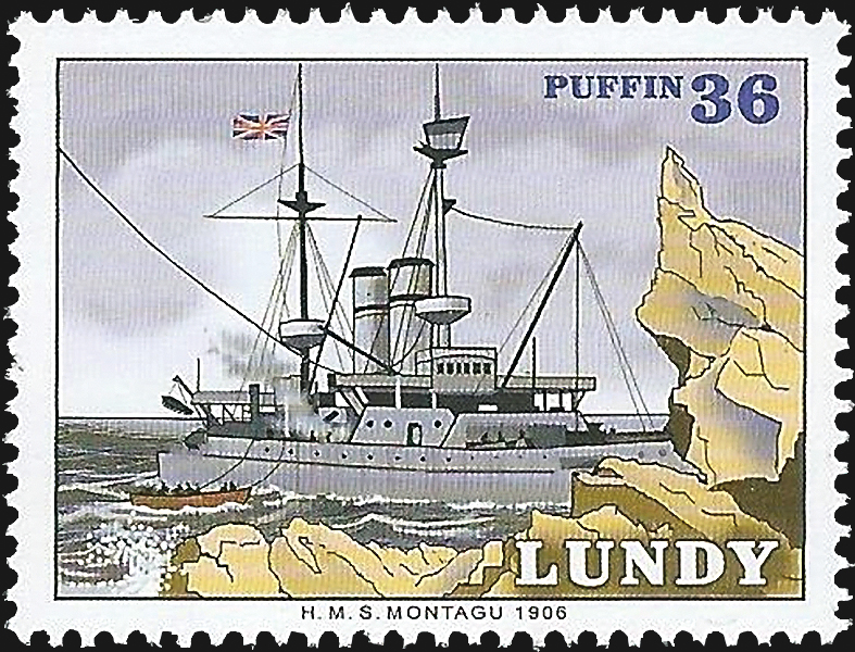 lundy-royal-navy-hms-montagu-stamp