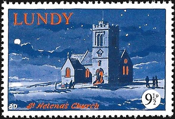 lundy-st-helenas-church-stamp