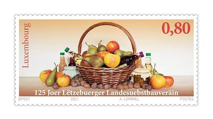 luxembourg-2021-letzebuerger-landesuebstbauverain-125th-anniversary-stamp