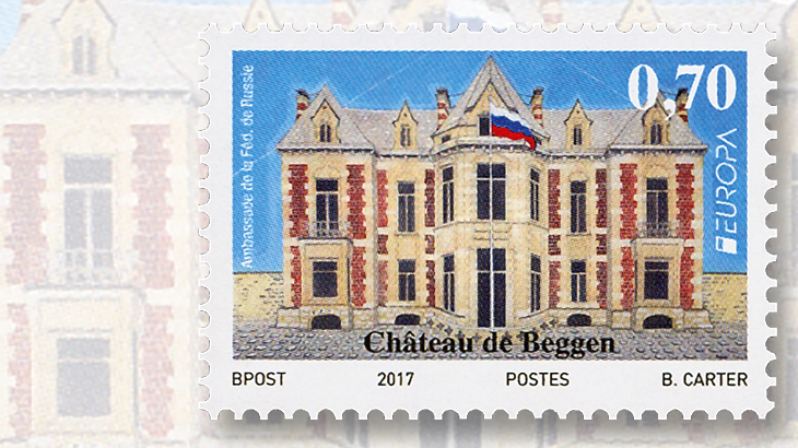 luxembourg-beggen-castle-europa-stamp