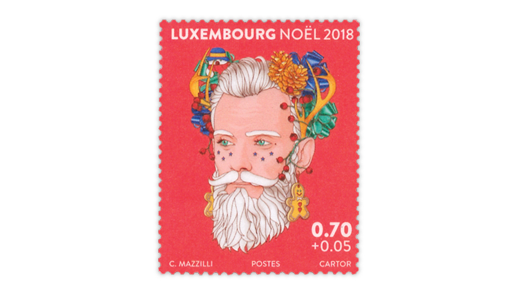 Luxembourg Christmas stamp single