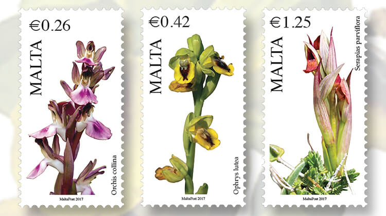 malta-flora-series-orchid-stamps