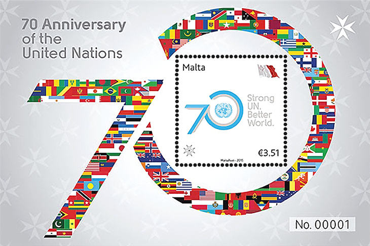 malta-united-nations-70th-anniversary-souvenir-sheet