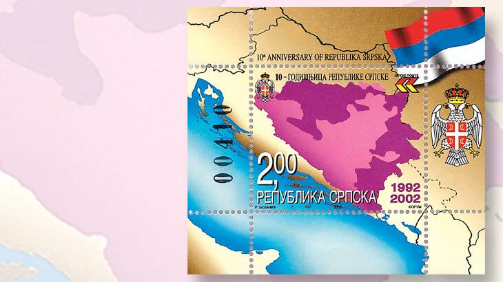 map-federation-bosnia-herzegovina-republika-srpska-stamp