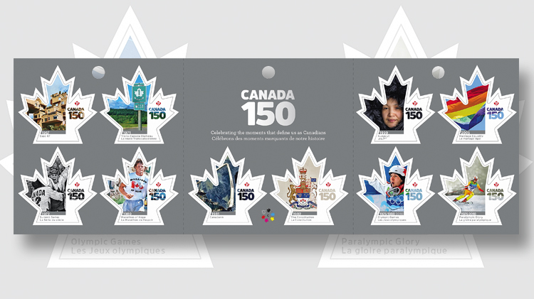 maple-leaf-shaped-canada-150-stamps