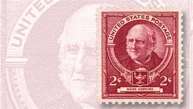 mark-hopkins-famous-americans-stamp
