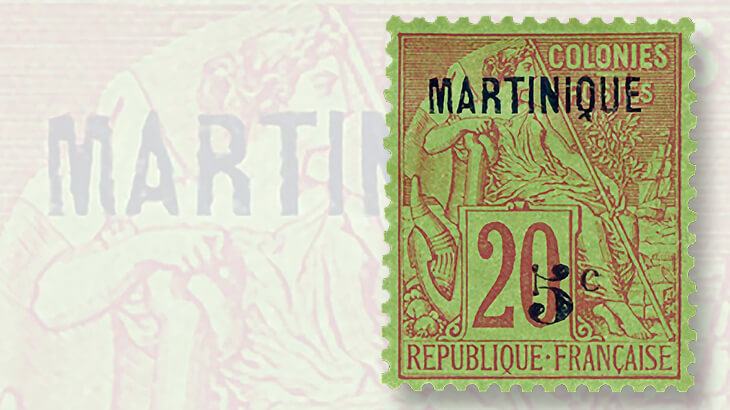 martinique-first-postal-issues