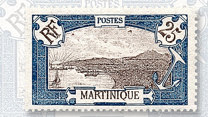 martinique-fort-de-france-stamp