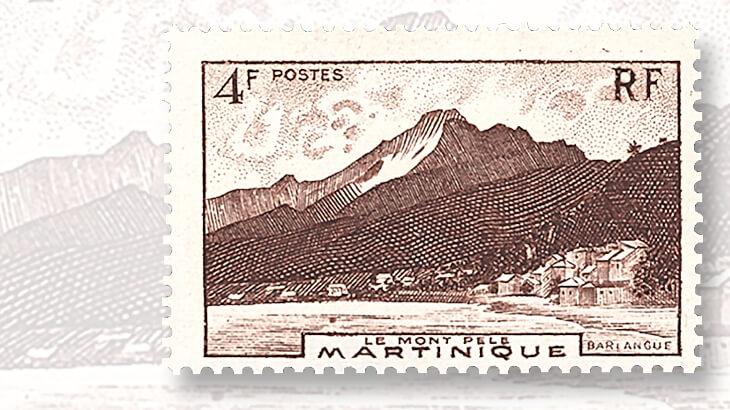martinique-mount-pelee-stamp
