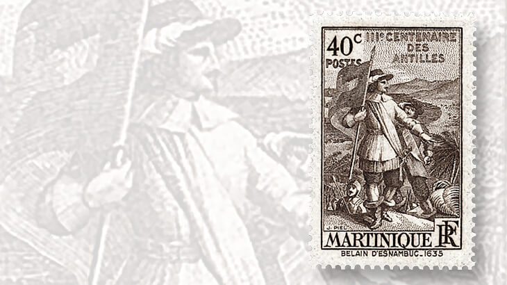 martinique-pierre-belain-desnambuc-stamp1