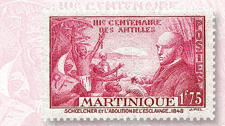 martinique-victor-schoelcher-stamp
