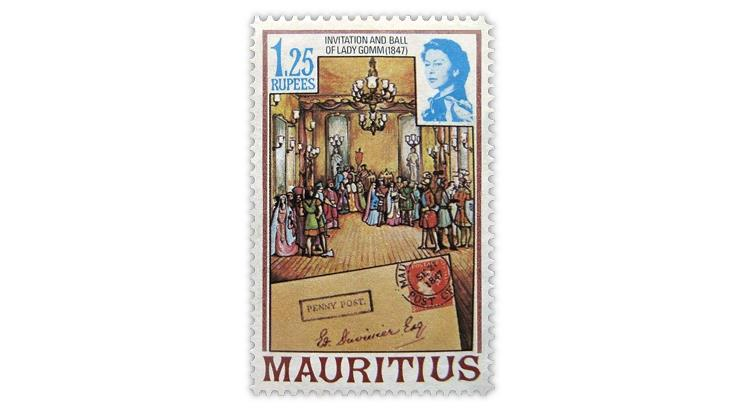 mauritius-1847-ball-cover-1978-commemorative-stamp