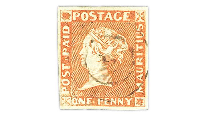 mauritius-1848-1-penny-orange-queen-victoria-stamp
