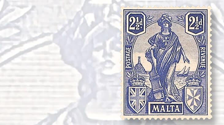 melita-britannia-malta-self-government-stamp