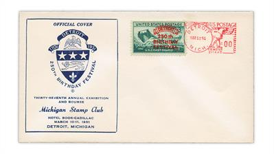 michigan-stamp-club-detroit-250th-anniversary-cover