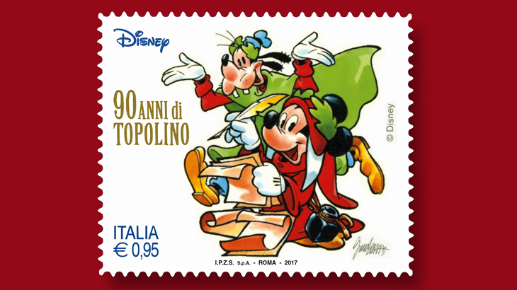 Italian Stamps Celebrating Mickey Mouses 90th Birthday Have Arrived