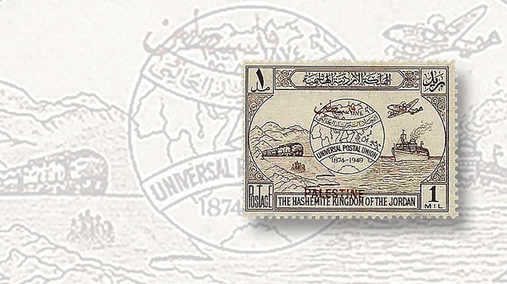 middle-east-stamps-jordan-upu-palestine-red-overprint-error