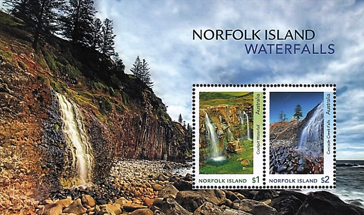 mini-sheet-norfolk-islands-waterfalls