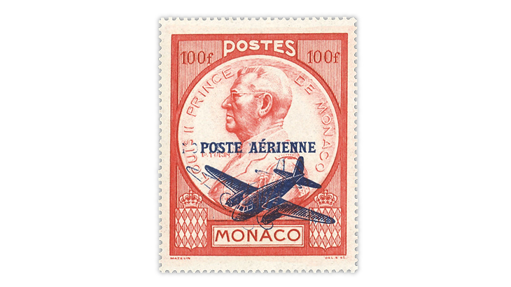 monaco-1946-prince-louis-double-overprint-airmail-error-stamp