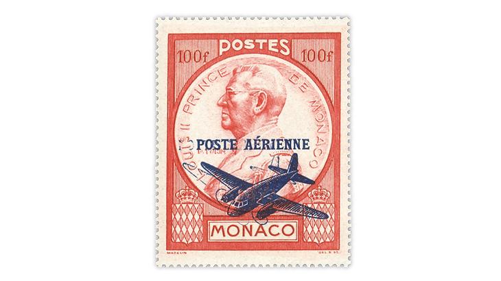 monaco-1946-prince-louis-double-overprint-airmail-error-stamp
