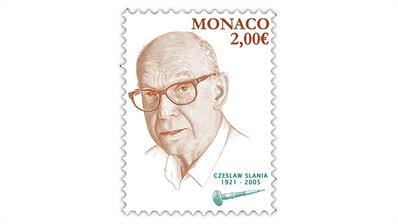 monaco-2021-czeslaw-slania-stamp