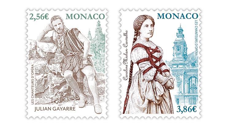 monaco-2021-opera-singers-julian-gayarre-caroline-miolan-carvalho-stamps