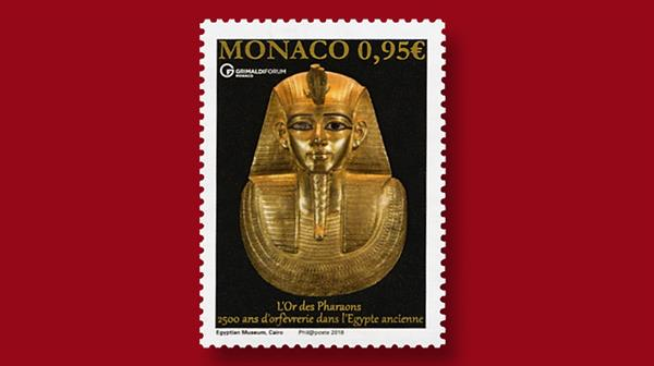 monaco-golden-treasures-pharaohs-ancient-egypt-stamp