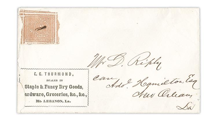 mount-lebanon-louisiana-postmasters-provisional-cover