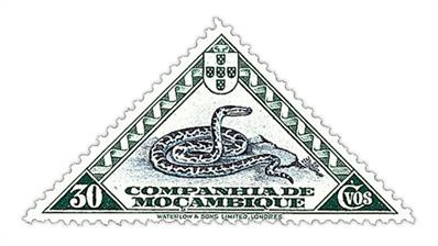 mozambique-company-1937-pictorial-bicolor-snake-stamp