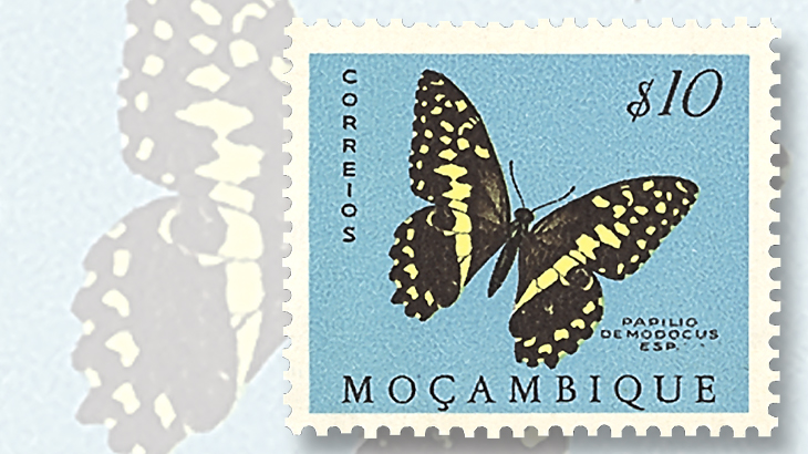 Mozambiques 1953 Butterflies And Moths Stamp Set Scott 364 383 Is In Strong Demand Mint Never Hinged Condition By Topical Collectors A Good Buy