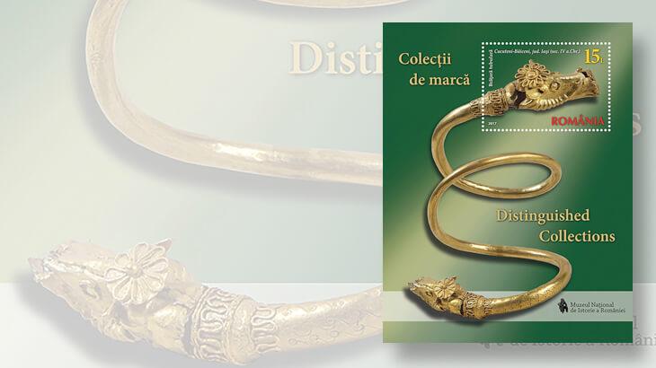 national-museum-romanian-history-gold-bracelet-souvenir-sheet