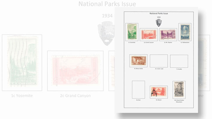 national-parks-stamp-album-page