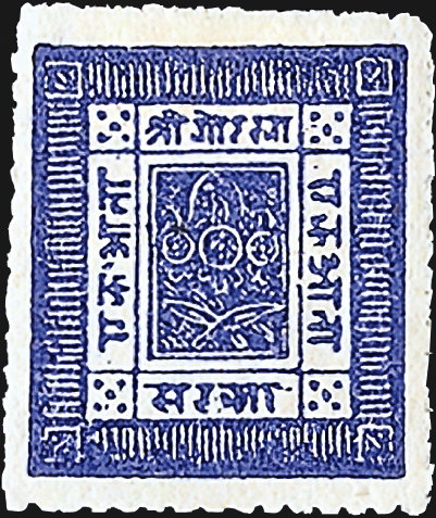 nepal-first-stamp-crown-knives-1881