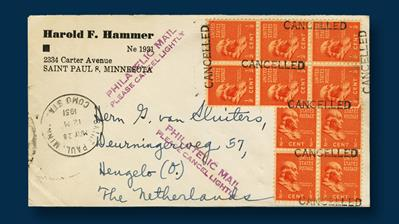netherlands-1951-cover-ten-cent-stamps