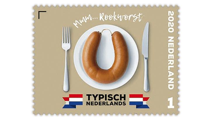 netherlands-2020-typically-dutch-rookworst-sausage-stamp