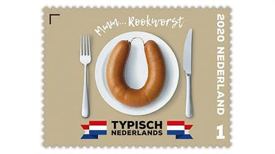 netherlands-2020-typically-dutch-rookworst-sausage-stamp