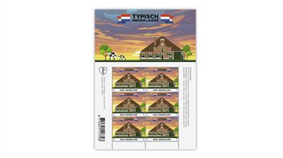 netherlands-2021-typically-dutch-farmhouse-stamp-pane