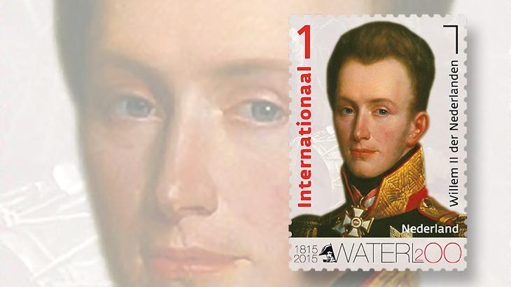 netherlands-battle-of-waterloo-stamp