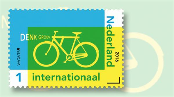 netherlands-commuter-bicycle-europa-stamp