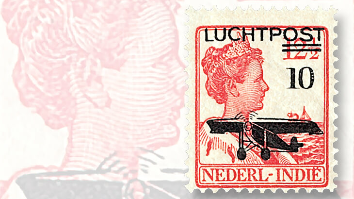 netherlands-indies-issues-airmail-overprints