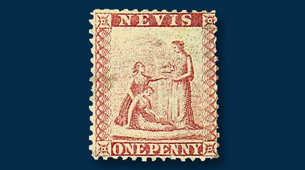 nevis-first-stamp