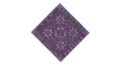 new-brunswick-1851-1-shilling-bright-red-violet-stamp