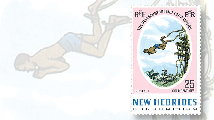 new-hebrides-land-diving-stamp