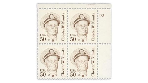 New Nimitz stamp tagging variety