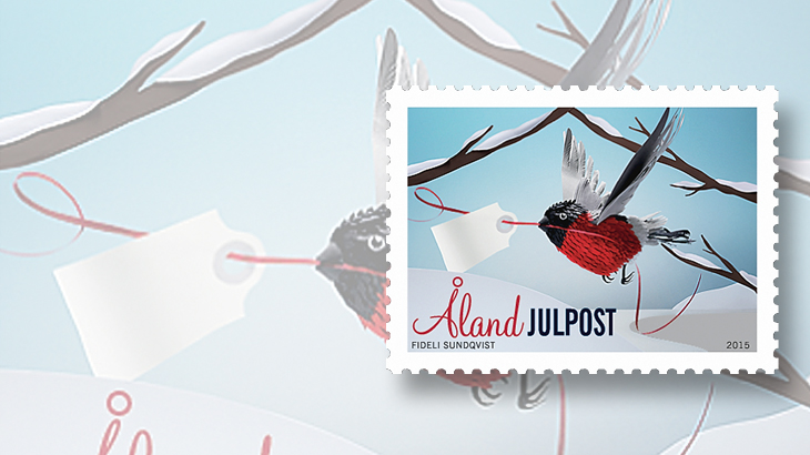 new-stamps-of-the-world-christmas-aland-bird-ribbon-gift-tag