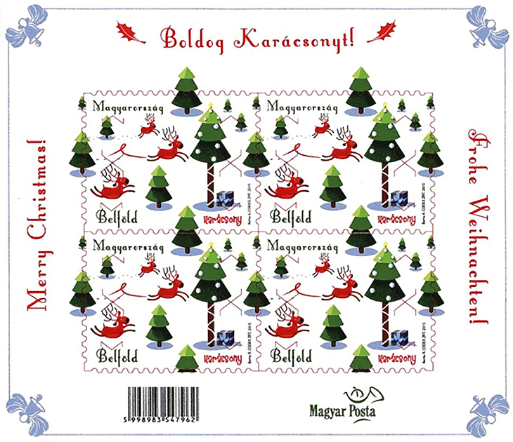 new-stamps-of-the-world-christmas-hungary-reindeer-souvenir-sheet