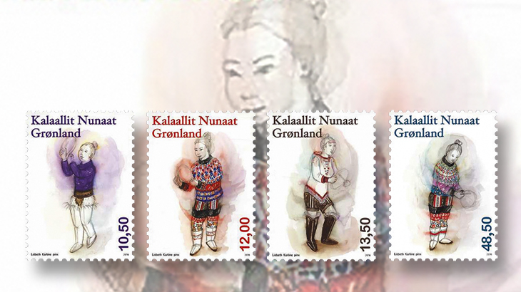 new-stamps-of-the-world-greenland-womens-national-costumes-lisbeth-karline