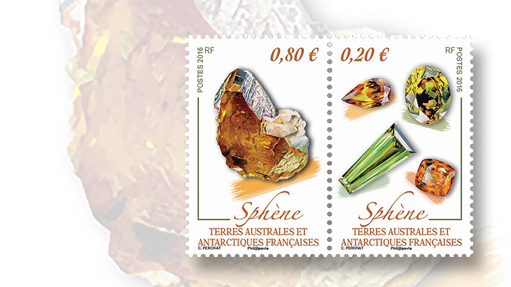 new-stamps-of-the-world-minerals-french-southern-antarctic-territory-titanite