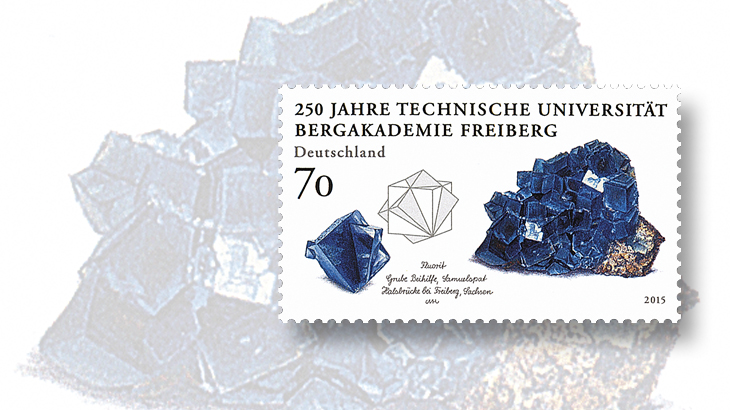 new-stamps-of-the-world-minerals-germany-freiburg-university-mining-technology